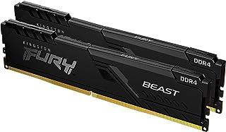 Kingston FURY Beast 16 GB (2 x 8 GB) 3000 MHz DDR4 CL15 Desktop Memory Kit van 2 KF430C15BBK2/16