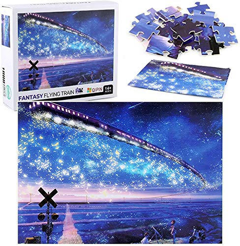 TLMYDD Jigsaw Puzzles For Adults 1000 Piece Starry Sky Sea Cardboard Puzzle Game Artwork For Kids Adults Family Educational Game Valentine's Day Present