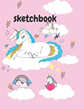 """SketchBook: Sketchbook For Girls With 110+ Pages of 8.5""""x11"""" Large Blank Paper for Drawing, Doodling or Learning to Draw"""