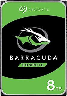 Seagate BarraCuda, wewnętrzny dysk twardy 8 TB HDD, 3,5 cala, 5400 obr. /min, 256 MB Cache, SATA 6 Gb/s, srebrny, nr model...