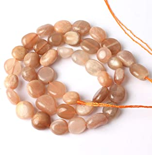 Love Beads Stone Beads Irregular Loose Gemstone Beads 8-11mm for Jewelry Making (Sunstone)