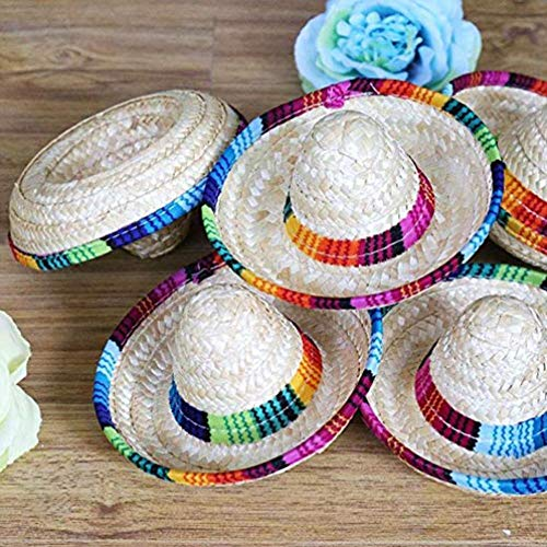 luckything Sombrero de Paja, Mini Sombrero, Nuevo diseño, Mini, Sombr