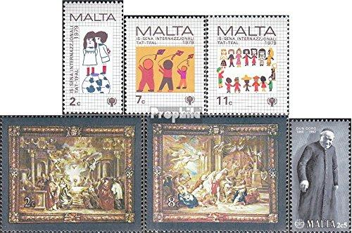 Malte mer.-no.: 596-598,607-608,614 (complète.Edition.) 1979/1980 Enfants, Teppiche, Preca (Timbres pour Les collectionneurs)