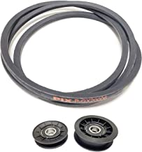 Idler Pulley and Drive Belt Kit for John Deere L100 Series Mowers Using GX20006 Transmission Belt with GX20286 and GX20287 Idler Pulleys
