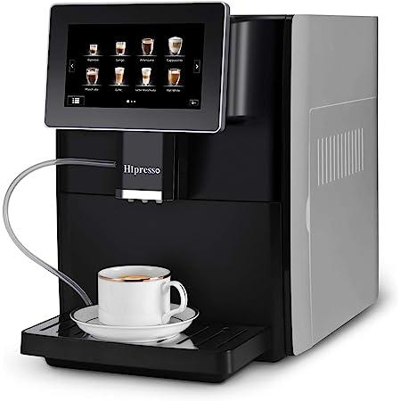 Hipresso Super-automatic Espresso Coffee Machine with Large 7 Inches HD TFT Display for Brewing Americano,Cappuccino, Latte, Macchiato,Flat White, Espresso Drinks