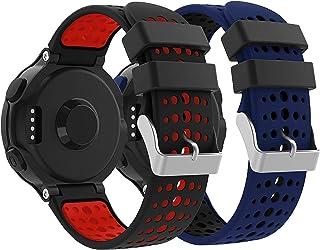 Supore Forerunner 235 Bracelet Watch Band Flexible en Impression Silicone avec des Outils pour Forerunner 235/220/230/620/...