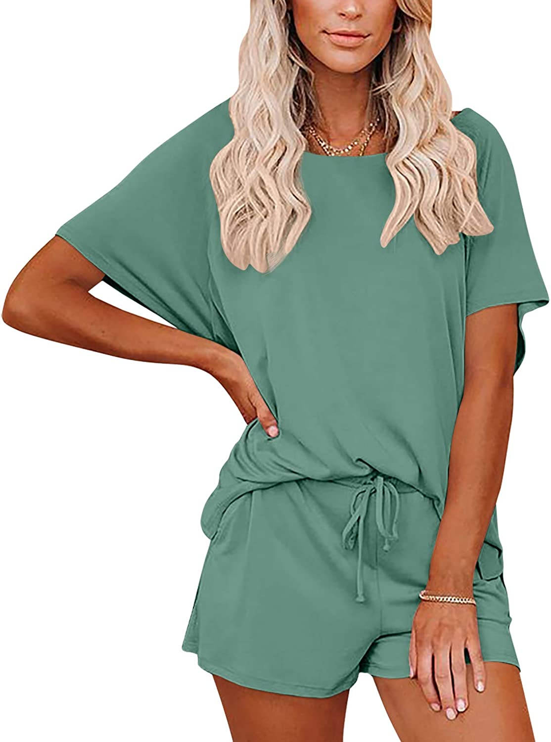 We OFFer at cheap prices Spadehill Women Short Sleeve Top Sleepwear Piece Cotton 2 Free shipping anywhere in the nation Sets