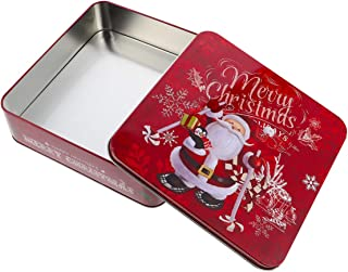 Cabilock Scatole per Biscotti Natalizi Scatole per Caramelle in Latta a Forma di Cabina Telefonica Contenitori per Regali in Latta di Metallo Articoli per Feste Natalizie Blu