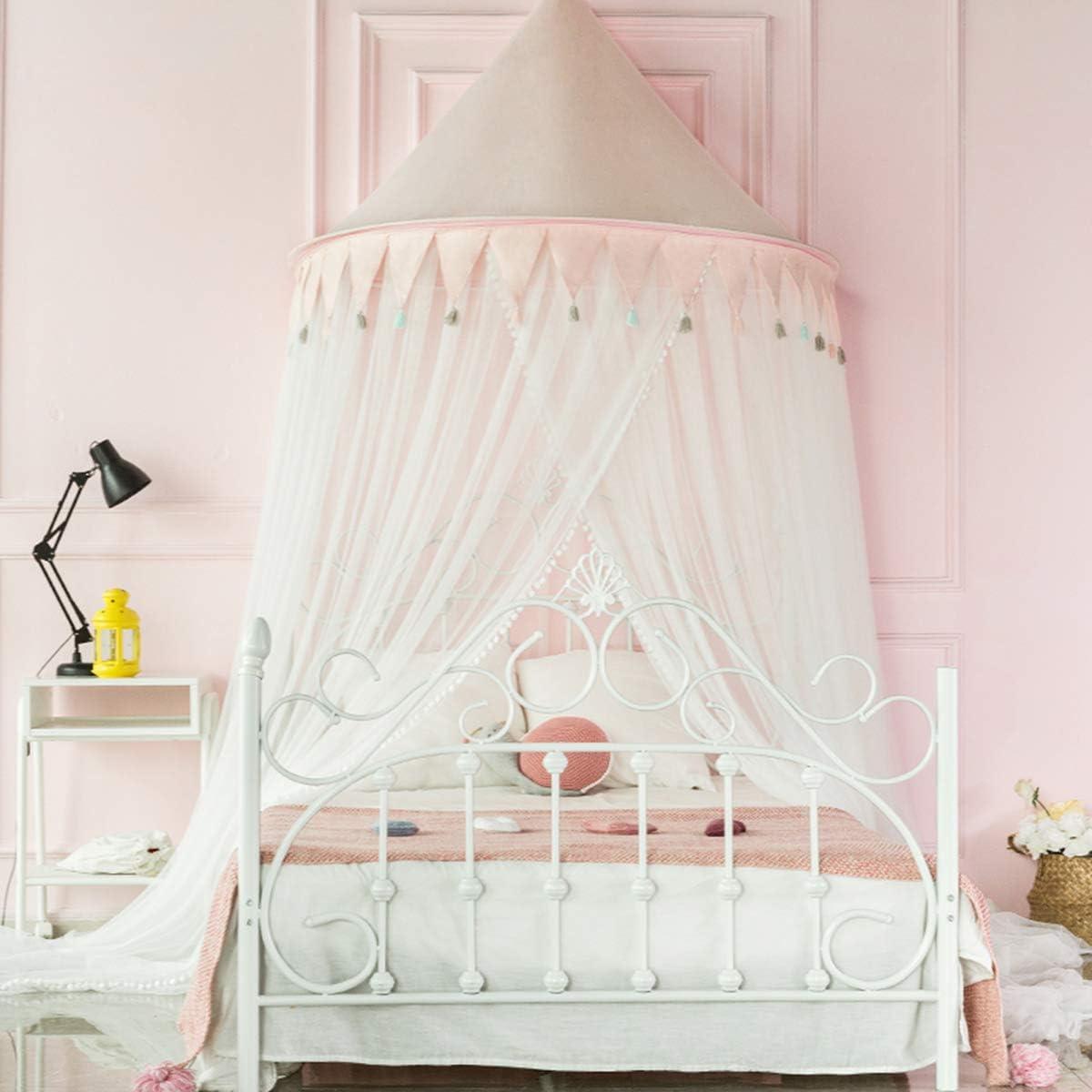 Ciel de lit pour b/éb/é ULLENBOOM /® rose gris baldaquin 135/x/200/cm, coton, pour lit pour enfant de 60/x/120/cm et 70/x/140/cm, motif/: /étoiles, maritime