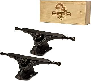 BEAR Kodiak Longboard Skateboard Trucks (Set) with Wood Box and Extra Bushings