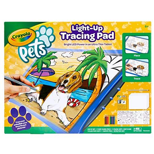 CRAYOLA Pets - Lavagnetta Luminosa, per disegnare il proprio cucciolo e creare divertenti scenette, 04-1034