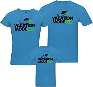 RAINBOWTEES Vac Mode On-3Family t-Shirts Set of 3 for Father Mother and Kid