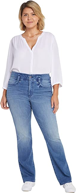 Plus Size High-Rise Marilyn Straight Jeans in Calloway