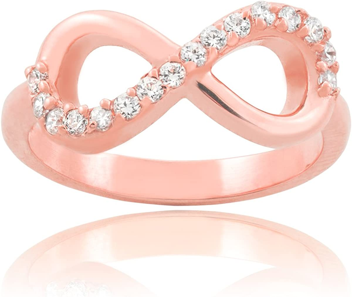Women's 10k Rose Gold 2.7mm Solid Infinity Promise Ring