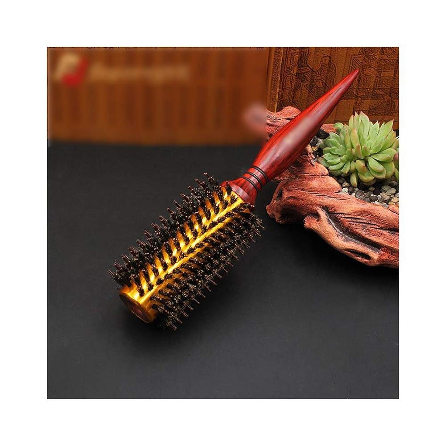 蒸発ビヨン火山のQukick 剛毛の円形のスタイリングのヘアブラシ - すべてのヘアースタイルのためのロールヘアブラシ (サイズ : 10 rows)