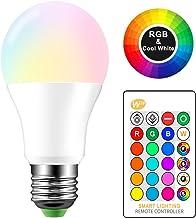 Konesky Ledlamp, E27, kleurverandering, sfeerverlichting, dimbaar, IR-afstandsbediening, voor bar, karaoke, party, banket