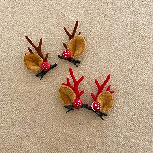 Adorno De Pelo De Navidad Lindo Hairball Cornamentas Super Hada Decorativa Cabeza De Pelo Aros Mori Chica Tocado 2 Championes - Cornamentas al curry