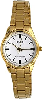 EAW-LTP-V005G-7AUDF Casio Women's LTP-V005G-7A Gold Stainless Steel Analog Watch
