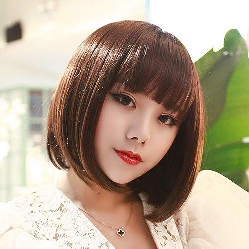 barato Peluca Qi Liu Haizhong Haizhong Haizhong larga peluca corta peluca mullida peluca corta guapo peluca femenina - marrón oscuro  muchas sorpresas