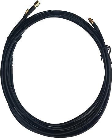 Cable alargador LMR200 negro conector SMA hembra a SMA macho 2 x 10m para antena externa y Router 4G LTE MIMO