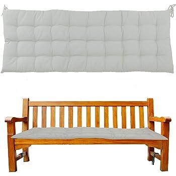 Sabbia. Cuscino per panchina Cuscino per panchina Cuscino per Panca da Giardino 120 cm x 40 cm x 4 cm Cuscino per panchina Cuscino per panchina JEMIDI