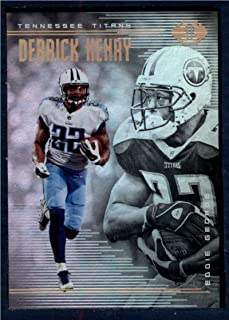 2018 Panini Illusions Football #58 Derrick Henry/Eddie George Tennessee Titans Official NFL Trading Card