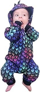 Newborn Baby Boys Girls Cartoon Dinosaur Hoodie Romper Onesies Jumpsuit Outfits Toddler Autumn Jumpsuits