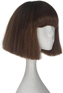 Miss U Hair Synthetic Tilted Short Kinky Straight Brown Hair Girl Kids Game Cosplay Halloween Wig