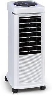 KLARSTEIN Windspiel Enfriador de Aire 3 en 1 – Enfriador de Aire, ventilación, humidificador de Aire, 100 W, 8 Niveles, 3 Modos: Normal, Natural y Reposo, oscilación automática, Blanco Floral