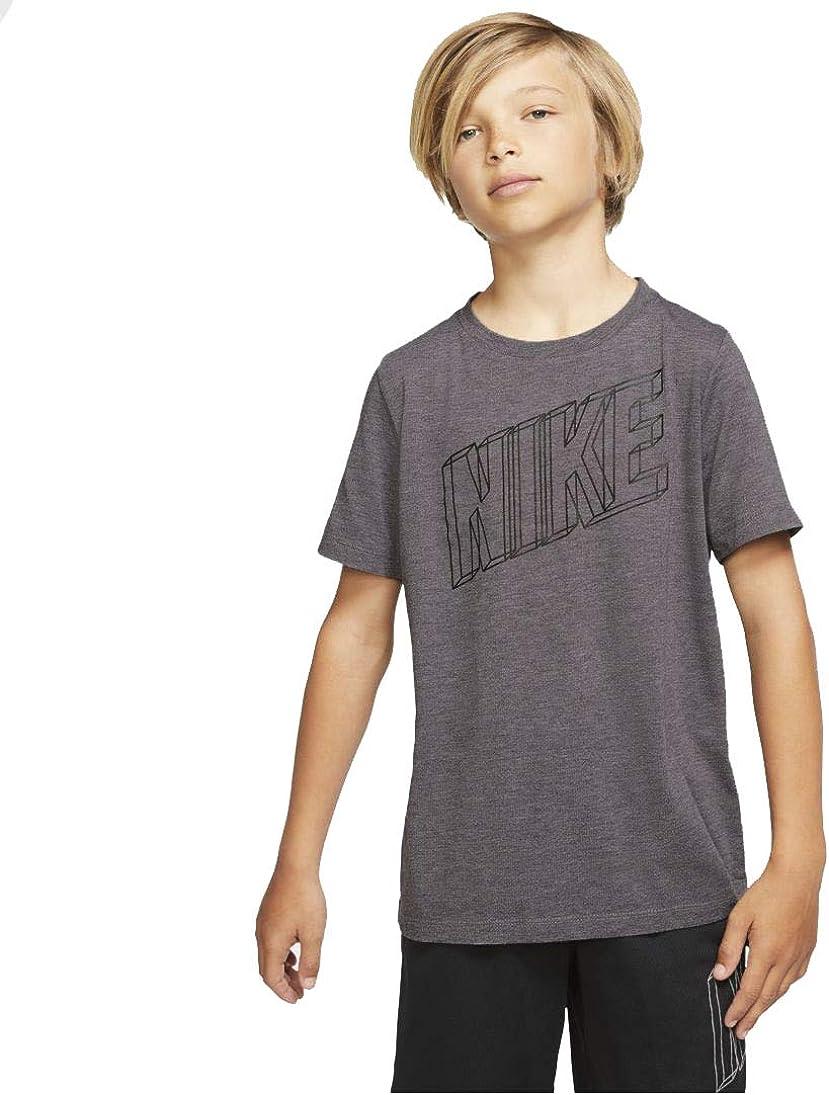 Nike Big Boy's (8-20) Dri-Fit Breathe Graphic Short Sleeve Top