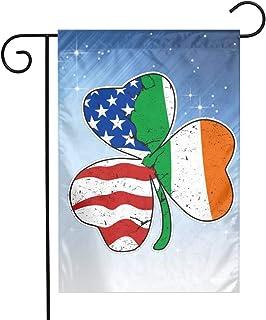 Italian Irish American Clover Family Garden Decor Semitransparent Pageant Flag