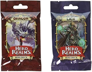 Hero Realms Dragon Boss Deck and Lich Boss Deck by White Wizard Games (2 Items)