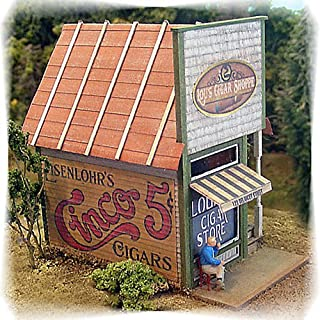 Bar Mills HO Scale Model Railroad Building/Structure Kit Papa Lous Cigar Shoppe