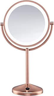 Conair Double-Sided Battery Operated Lighted Makeup Mirror - Lighted Vanity Makeup Mirror, LED Lighting, 1x / 10x Magnific...