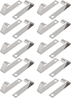 uxcell 20Pcs Silver Tone Metal AA/A/CR2/9V Battery Positive Negative Contact Plate