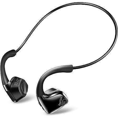 【令和進化版 Bluetooth5.0】Bluetooth イヤホン 骨伝導 ヘッドホン 高音質 自動ペアリング スポーツ IP56防水 耳が疲れない 超軽量 完全ワイヤレス イヤホン マイク内蔵 Siri対応 ノイズキャンセル ハンズフリー通話 ブルートゥース ヘッドホン iPhone&Android適用 (ブラック)