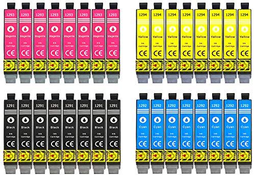 32 Druckerpatronen Multipack Ersatz für Epson T1291 T1292 T1293 T1294 Stylus SX230 Stylus SX235w Stylus SX420 Stylus SX425w SX435w SX445w SX620fw WF 3520 WF 3530 WF 3540 BX305f BX305fw BX320fw