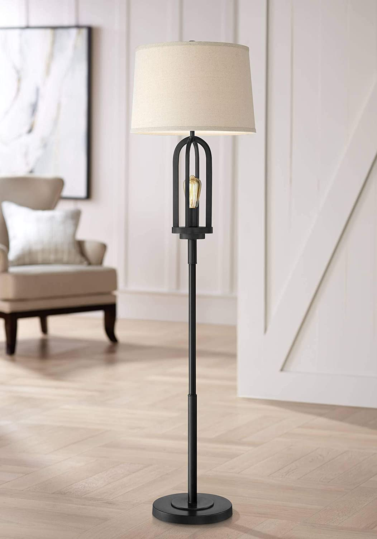 Quantity limited Marcel Floor Lamp with Nightlight Edison Farmhouse LED Miami Mall 64