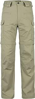 HARD LAND Men's Convertible Hiking Pants Waterproof Lightweight Zip-Off Outdoor Ripstop Cargo Shorts Elastic Waist