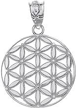 Round Flower Of Life Sacred Geometry Spiritual Necklace Pendant