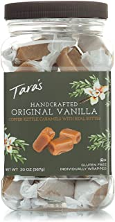 Tara's All Natural Handcrafted Gourmet Original Madagascar Vanilla Caramel: Small Batch, Kettle Cooked, Creamy & Individually Wrapped - 20 Ounce