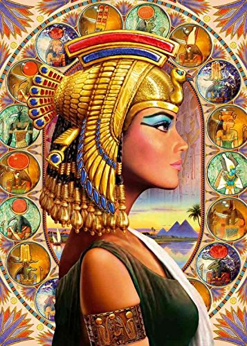Pintura por Números para Adultos DIY Pintura al óleo sobre Reina de egipto Lienzo Pintar por Numeros para Adultos Principiantes 40x50cm (Sin Marco)
