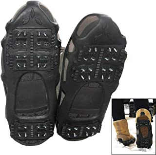 Ice Grips Traction Cleats Ice Cleat Snow Grippers Non-Slip Over Shoe Rubber Spikes Crampons Anti Slip Durbale Crampons Slip-on Stretch Footwear