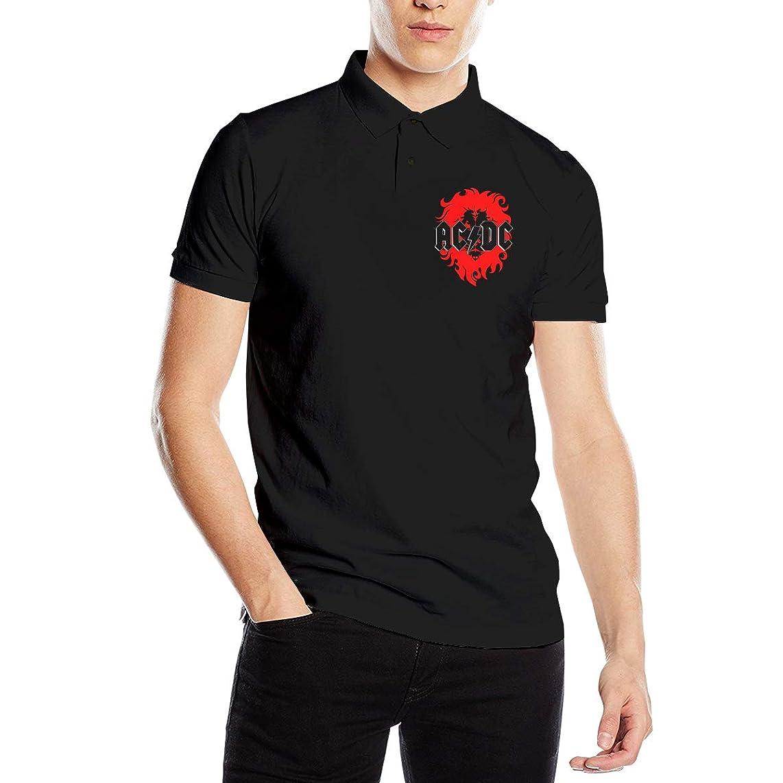 少し事業パパポロシャツ 半袖 夏用メンズシャツ Acdc ボタンダウンポロシャツ スポーツウェア Tシャツ ティーシャツ シンプル カジュアル 通気性 吸汗性 快適 無地 薄手 テニス ゴルフ