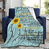 ARTIEMASTER Sunflower to My Daughter Never Forget That I Love You Soft Blanket Durable Cozy Bed Throws fit Home Couch Sofa for All Season 60x50 Inch