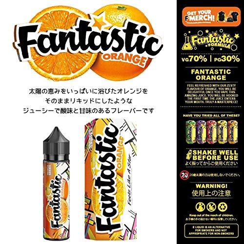 Fantastic Juice ファンタスティックジュース 電子タバコ リキッド ストロベリー グレープ オレンジ レモンライム ライチ カシス シトラス コーラ ニコチンフリー (ORANGE, 50ml)