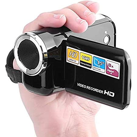 Taidda Mini Outdoor HD Digital Video Camera Camcorder #2 Lightweight Sturdy Durable 16MP 720P 30FPS 4X Zoom with Fill Light 2.4 Inches Large Screen