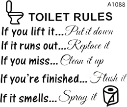 TOOGOO(R) Toilet Rules Bathroom Removable Wall Sticker Vinyl Art Decals DIY Home Decor