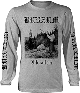 Burzum 'Filosofem' (Grey) Long Sleeve Shirt