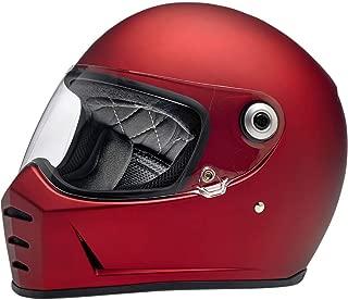 Biltwell Lane Splitter Helmet (Small) (Flat RED)